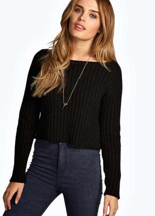 Короткий свитер/женский короткие свитер/гольф/топ/черный теплый топ