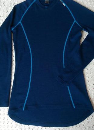 Термореглан norheim з мериносової шерсті термо футболка лонгслив термобілизна термобелье