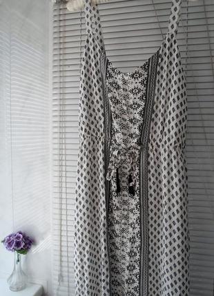 Красивый длинный сарафан, натуральная ткань