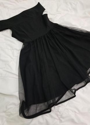 Платье чёрное пышное