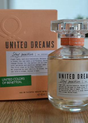 Набор benetton united dreams stay positive туалетна вода 50 ml + молочко для тіла 100 ml