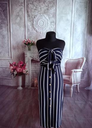 Мега стильное платье бюстье миди вискоза