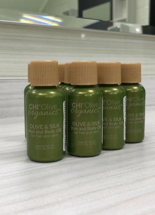 Масло для волос chi olive organics olive & silk hair and body oil 15 ml