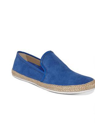 Синие замшевые мокасины бренд kenneth cole размер 36