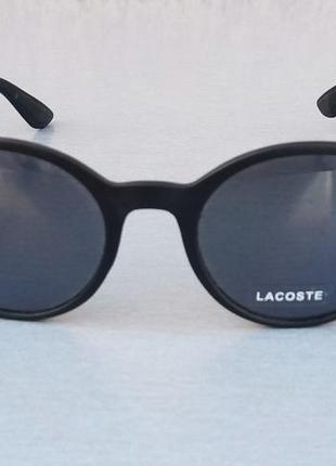 Lacoste очки унисекс солнцезащитные круглые черные линзы стекло