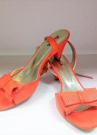 Новые яркие кожаные  летние босоножки killah , оранжевые, удобные2 фото