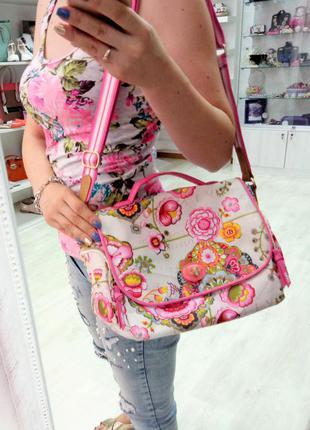 Яркая красивая сумка цветы узоры only