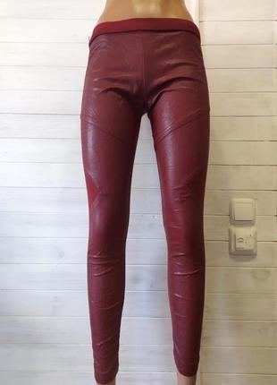 Теплые  лосины -кожаный стиль,-на байке xs-s германия