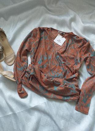 Блуза с поясом zara