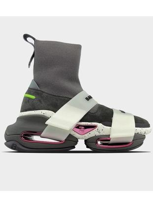 Кроссовки balmain b bold sock sneaker grey lux