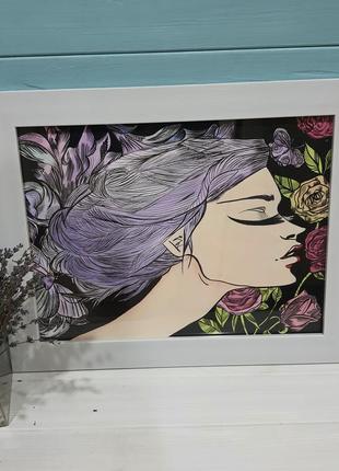 """Картина в романтичном стиле """"нежность"""""""