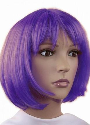 Парик маскарадный фиолетовый каре