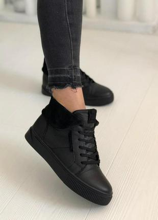 Кеды ботинки кожаные натуральная кожа