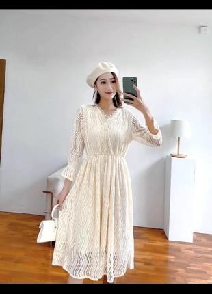 Платье кружево zara mango тренд