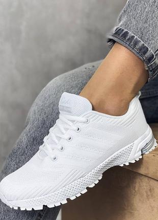 Кроссовки белые, обувный текстиль, весенние