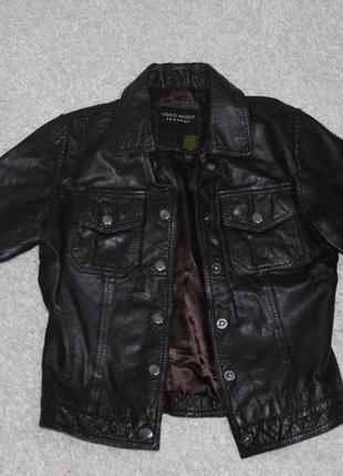 Винтажная кожанка кожаная куртка