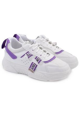 Женские белые кроссовки со вставками