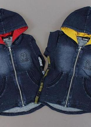 Толстовка под джинс,утепленная для мальчика венгрия
