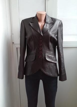 Красивая необычная кожаная куртка sensa 100% кожа лучшая цена