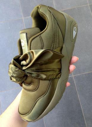 "Кроссовки puma х rihanna fenty bow sneaker ""olive branch"""