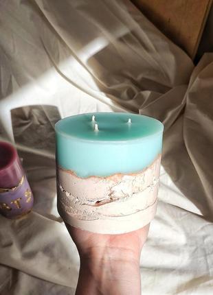 Свеча ароматическая/свеча в бетоне/ на подарок