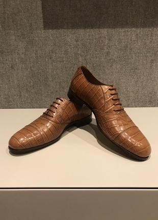Мужские туфли из крокодиловой кожи джоржио армани