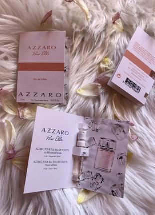 Пробники миниатюры туалетной воды azzaro pour elle 1,5 ml