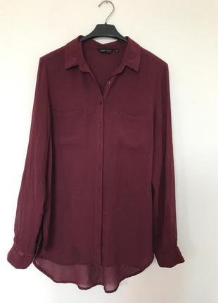 Рубашка цвета марсала от new look
