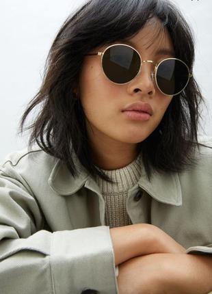 Распродажа женские очки h&m круглые зелёные