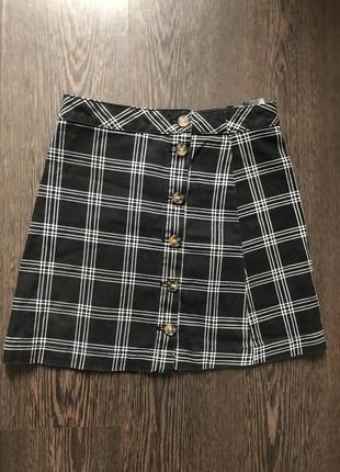 Мини юбка в клетку короткая юбка new look