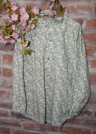 Винтаж. рубашка с цветочным принтом