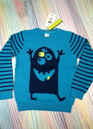 Обалденный свитерок с монстриком cool club.
