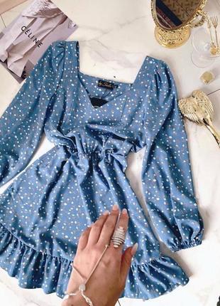 Стильное платье с рюшами