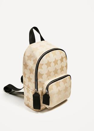 Холщовой рюкзак zara