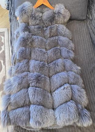 Меховая жилетка. шубка из натурального меха песец!