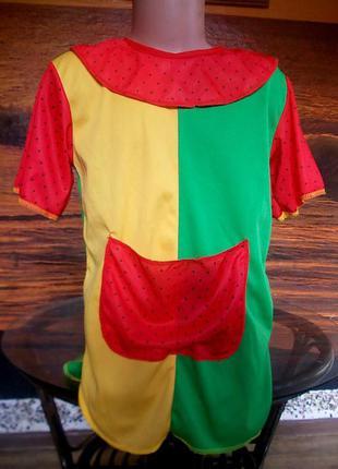 Маскарадное платье пеппи длинный чулок на 4-6 лет