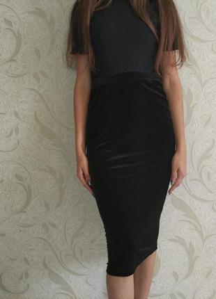 ▪ велюровая юбка миди
