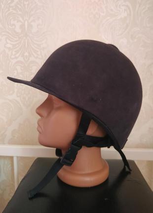 Защитный шлем для конного спорта из нубука размер 7 1/8 ,58