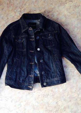 Темно-серая джинсовка, джинсовая куртка sisley