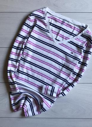 Реглан /кофта/свитер в полоску белый от tommy hilfiger
