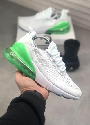 Мужские спортивные кроссовки кеды nike air max белые демисезонные в сеточку