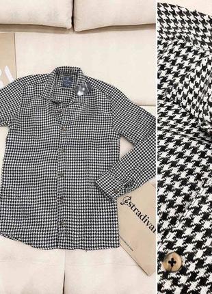 Рубашка в стиле prada в гусиную лапку