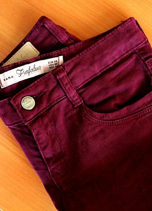 Джинсы штаны брюки марсала zara
