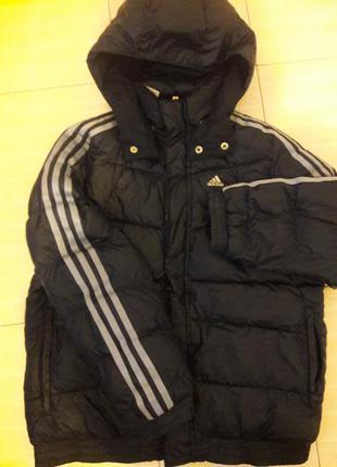 Срочно супер тёплая демисезонная курточка-пуховик adidas original