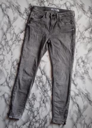 Серые джинсики на не высокую девушку 155-160 см