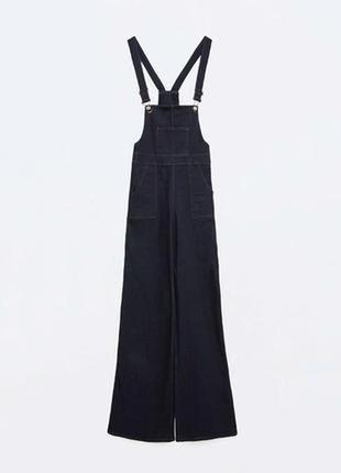 Джинсовый комбинезон брюки клеш от бедра vero moda