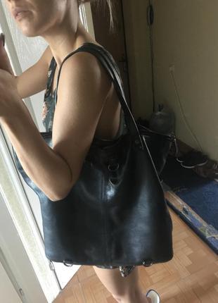 Zara . кожаная сумка