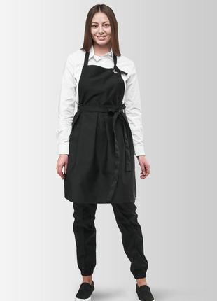 Фартух сукня vanilla чорний | фартук