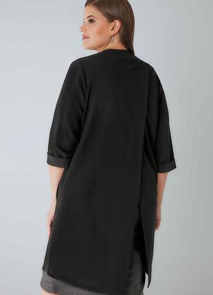 Стильный блейзер жакет накидка кардиган для пышной модницы размера + xxl-4xl