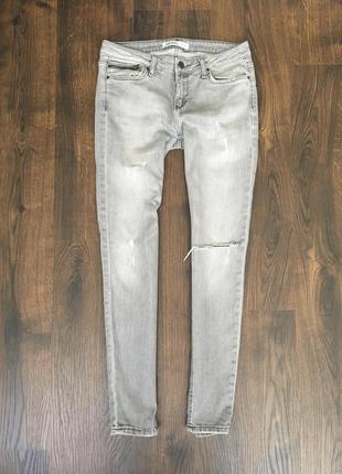 Серые джинсы skinny zara